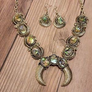 Abalone Squash Blossom Necklace